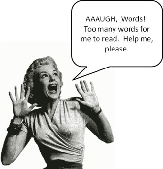 too many words