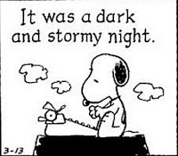 Snoopy, it was a dark and stormy night