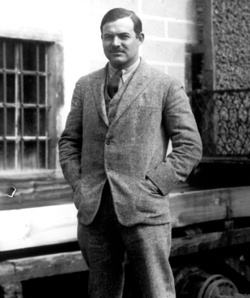 Hemingway in Paris (1924) Image in Public Domain